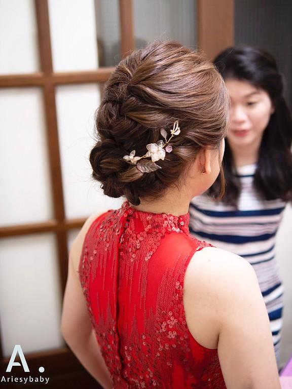 新祕,Ariesybaby造型團隊,編髮新娘造型,文定造型,新娘髮型