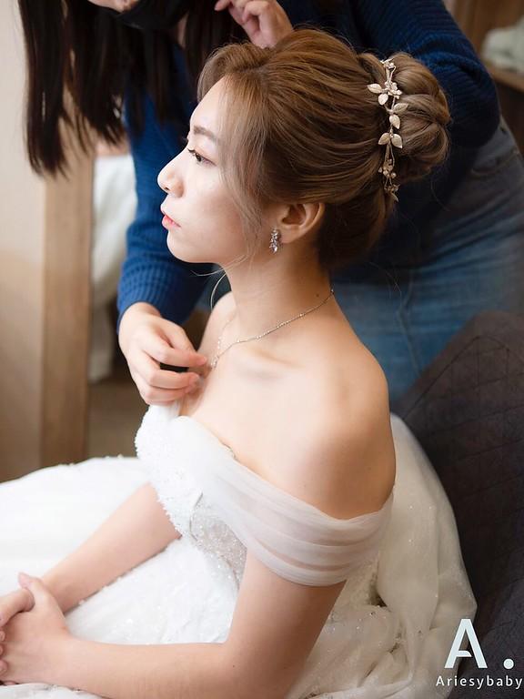 新祕,Ariesybaby造型團隊,清透自然妝感,新娘髮型,蓬鬆線條髮型