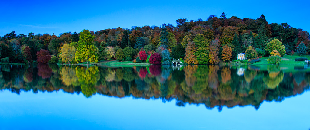 Reflected Autumn Colours at Stourhead Gardens 2015