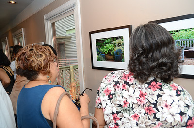 Mechelle & Linda viewing my work.