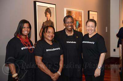 Dr. Andrea Barnwell Brownlee, Dr Deborah Willis, Fulton County Commissioner Joan Garner, and Dr Beverly Daniel Tatum