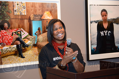 Dr. Andrea Barnwell Brownlee, Director of the Spelman College Museum of Fine Art, makes remarks.