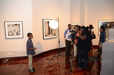 A young boy being interviewed on his perception of beauty.