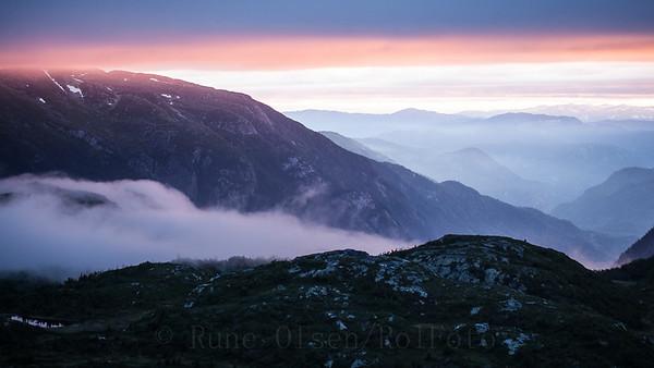 Magisk solnedgang over Lifjell 16