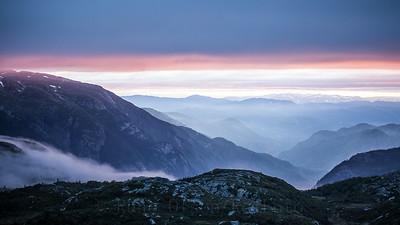 Magisk solnedgang over Lifjell 18