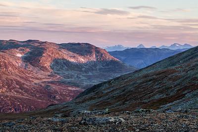 Morgenpalett i høyfjellet
