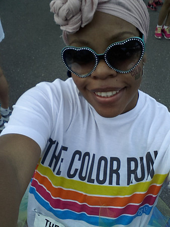Me and my kids participated in the 5k Color Run in Winston Salem, NC....I had to be cute and stylish...YET protect my Sisterlocks from all that powder....WHAT a great time....highly recommend it.....This is going to be an annual event for the Long Family.  Check it out - http://thecolorrun.com/video/