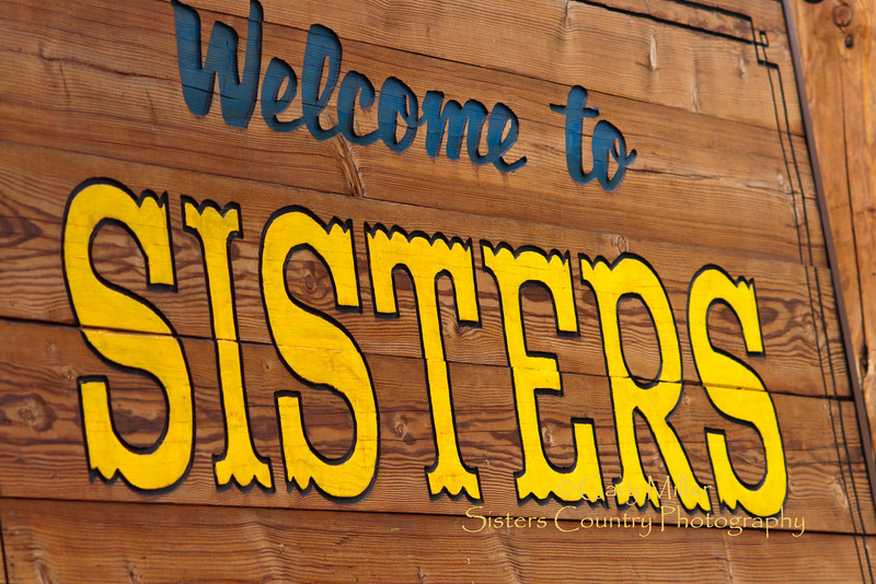 Welcome sign to Sisters, Oregon - Photo by Gary N. Miller - Sisters Country Photography