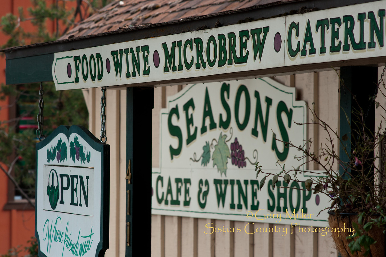 Seasons Cafe and Wine Shop - Sisters, Oregon - Photo by Gary N. Miller - Sisters Country Photography
