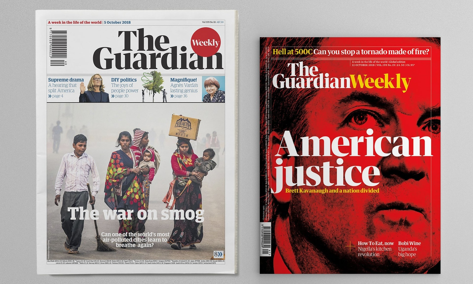 The Guardian Weekly issues of 5 October and 12 October 2018 (photo credit: The Guardian Weekly)