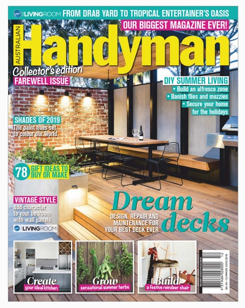 Australian Handyman final issue December 2018-January2019 (photo credit: Direct Group/Australian Handyman)