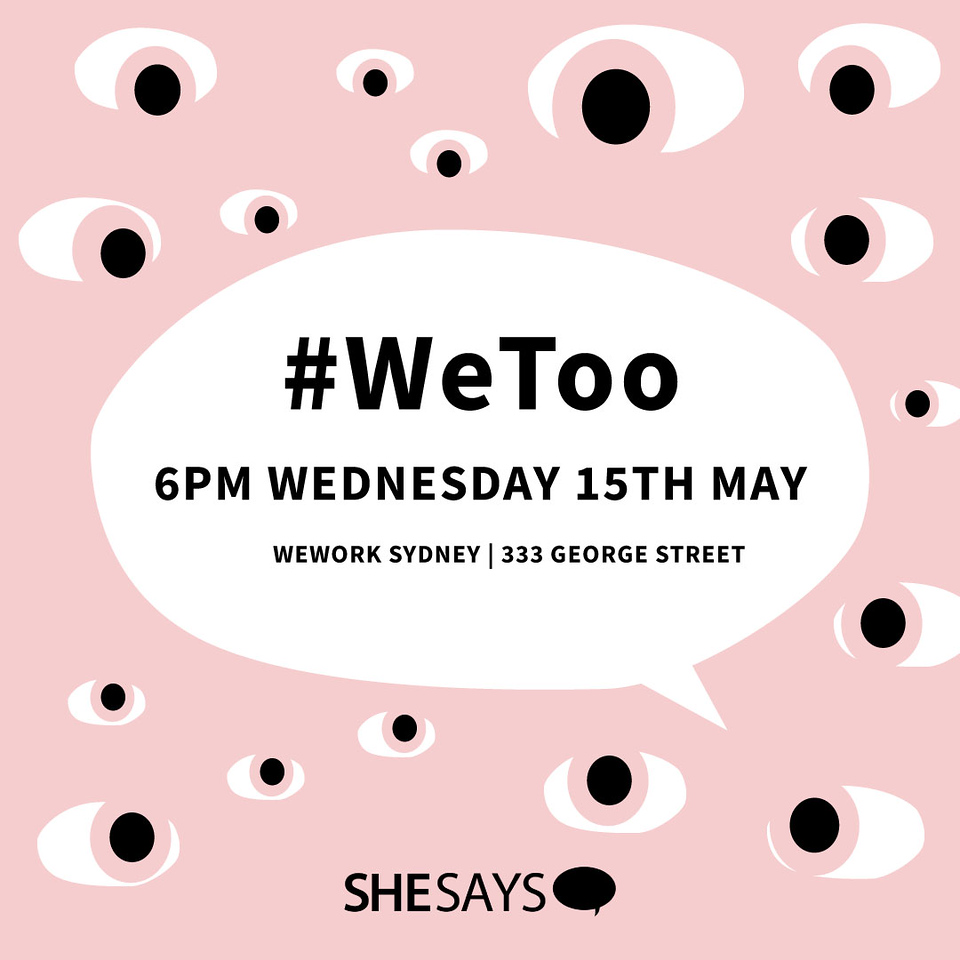 #WeToo advertisement (photo credit: Publicis Sapient Australia/Publicis Groupe/SheSays)
