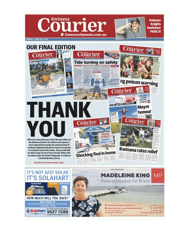 Kwinana Courier (photo credit: Community News Group)
