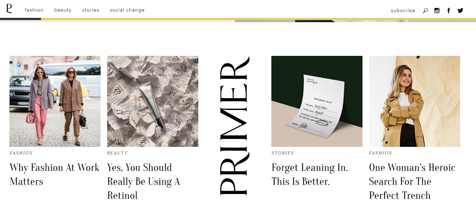 Primer.com.au sample page
