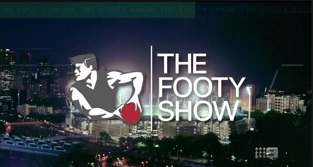 The Footy Show title card (photo credit: Nine)