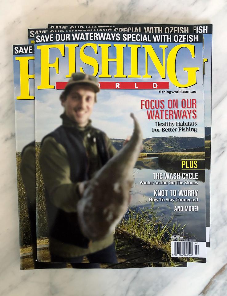 Fishing World Magazine, July 2020 (photo credit: VMLY&R Melbourne)