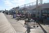 Shops and restaurants along boardwalk