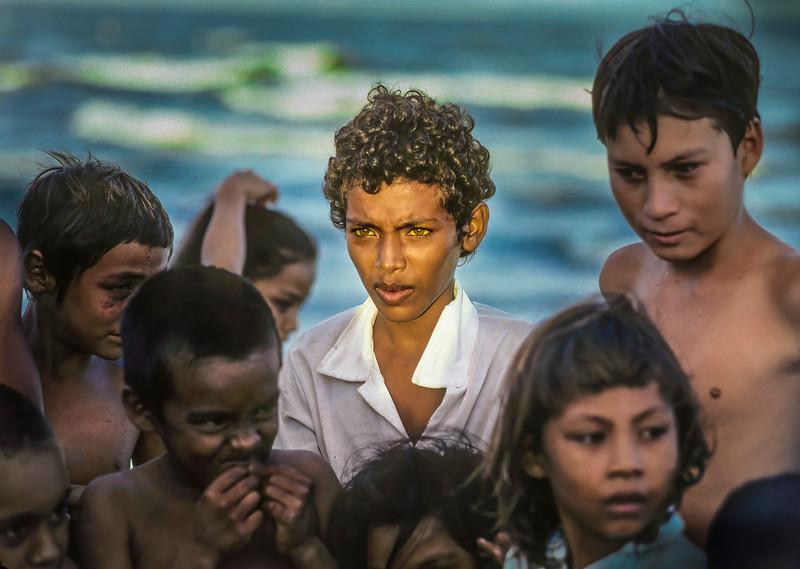 Nicaraguan Boy With Green Eyes