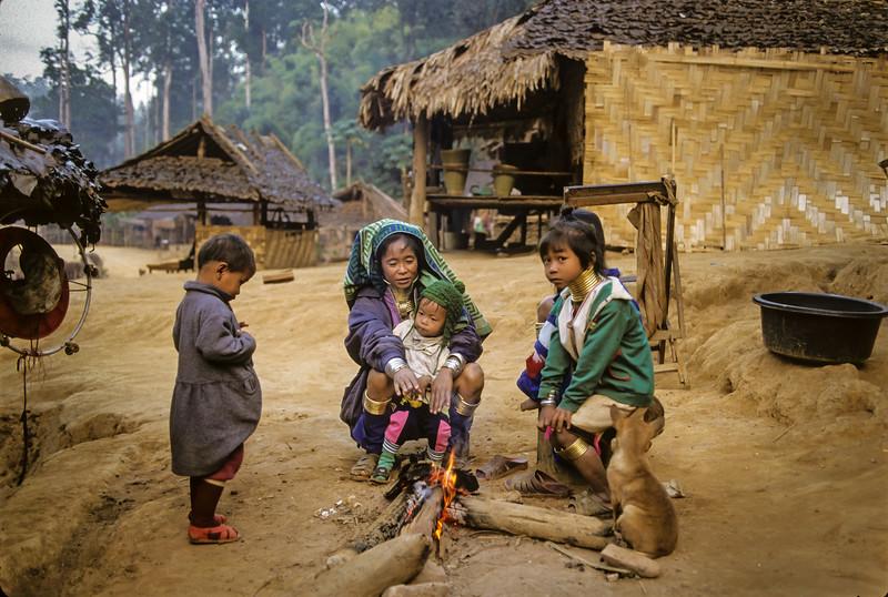 Longneck Karen (Padaung) Hill Tribe Family