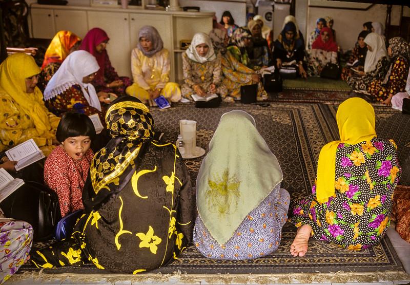 Girl at Muslim Prayer Meeting