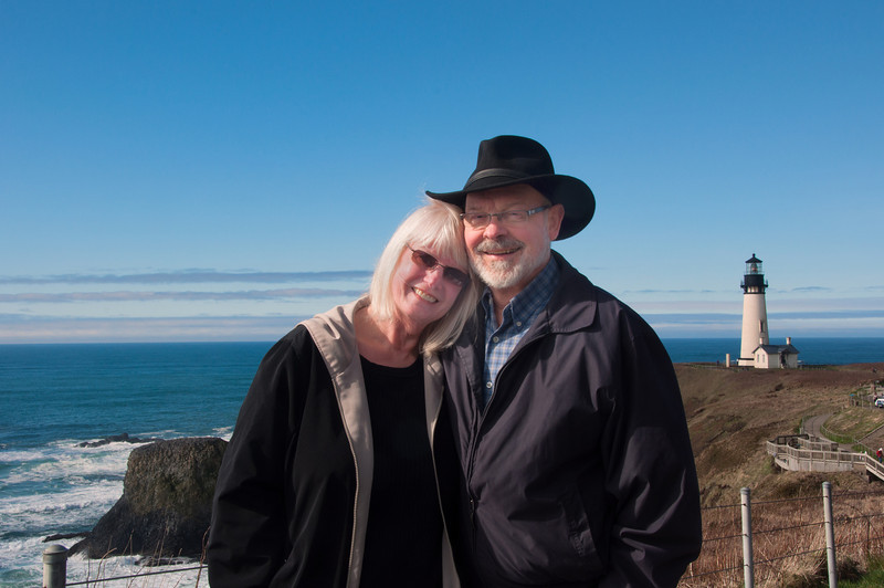 Rolly and Joy at Yaquina Head
