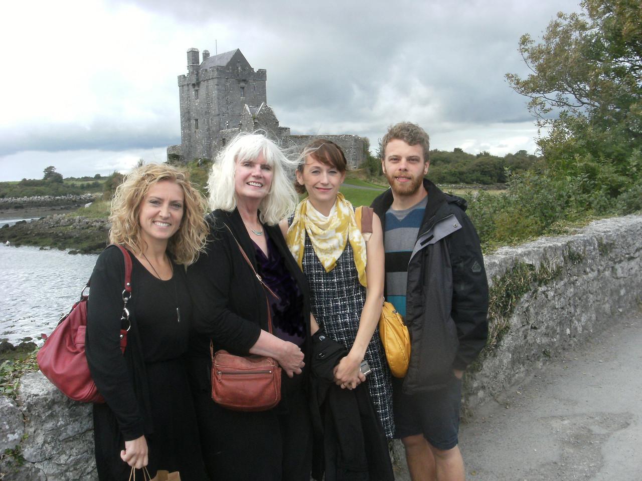 Lynsey, Joy, Heather, Forrest near Dunquire Castle