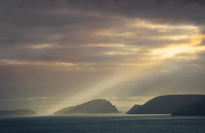 Light Beam over Blaskett Islands