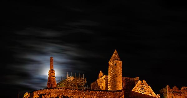Rock of Cashel Blocks Moonlight