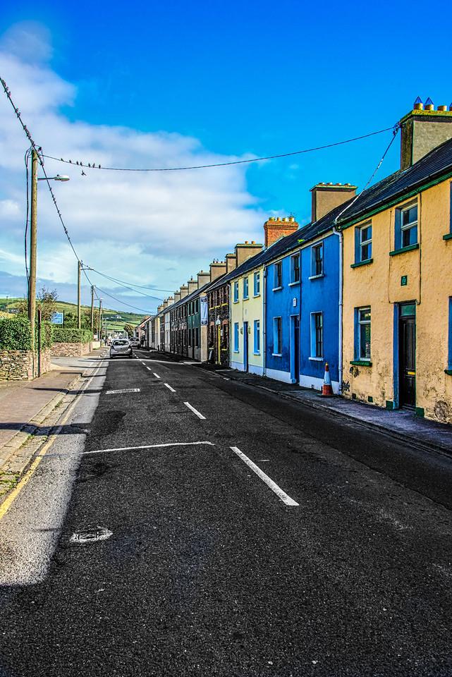 Residential Street in Dingle, Ireland