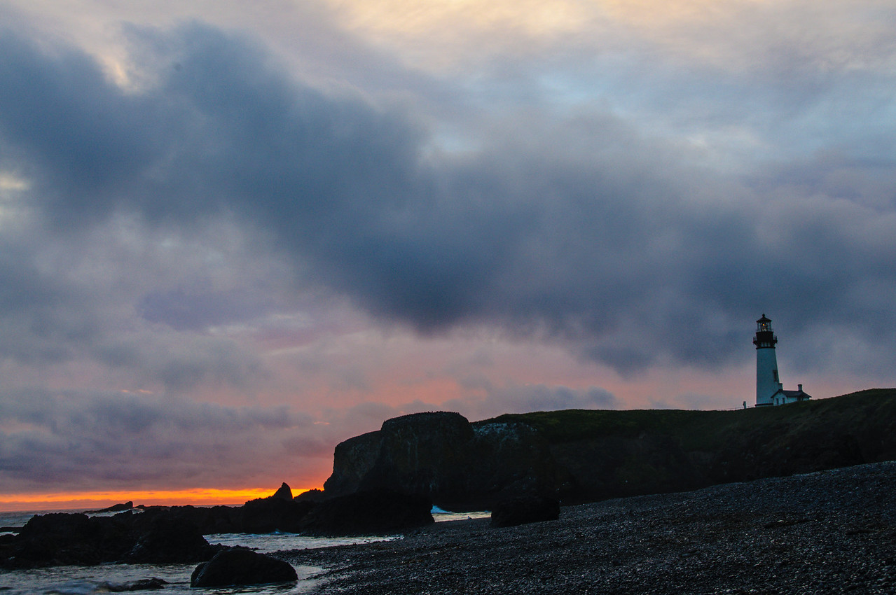 Sunset at Cobble Beach, Oregon