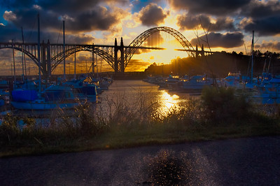 Moorage near Yaquina Bay Bridge