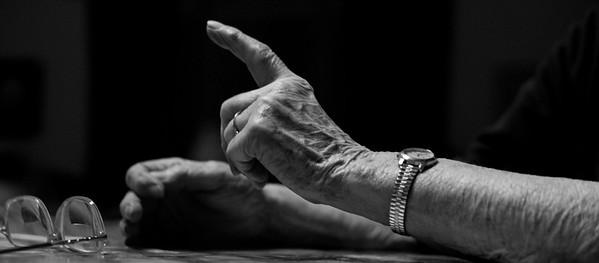 Joan Schuette, 89, expresses herself.