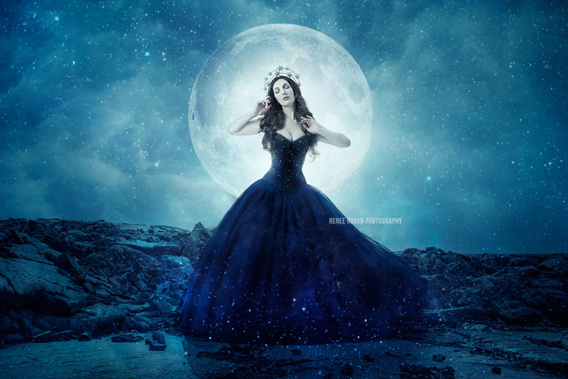 "<p class=""wp-caption-text""><em> ""A recent challenge to create an image using only one area of the color wheel. Many thanks to <a href=""http://www.instagram.com/lindafriesen.couture"">Linda Friesen</a> for channelling her inner Moon Goddess.""</em></p>"