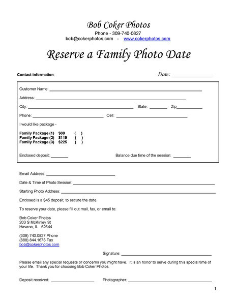 FAMILY Order Form & OFFICIAL P-1423418388-O