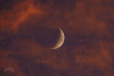 Lunar sunset