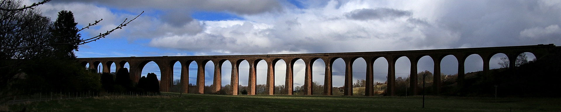 Sun rays on viaduct in Scotland (March 2016)