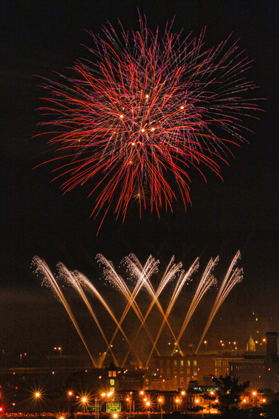 Ka-boom!<br /> July 3, 2012 Fireworks over Manchester, NH<br /> Taken from One Sundial Ave office building