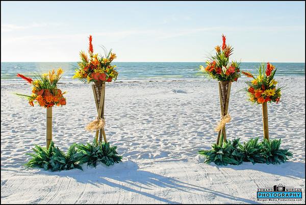 Bamboo Basket Beach Wedding Package