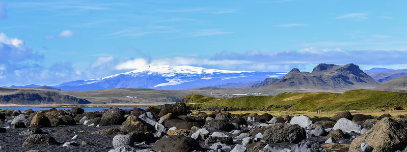 Eyjafjallajökull looking very innocent in 2012. Its peak is 5,400 feet above sea level, and its ice cap is 650 feet thick in places.