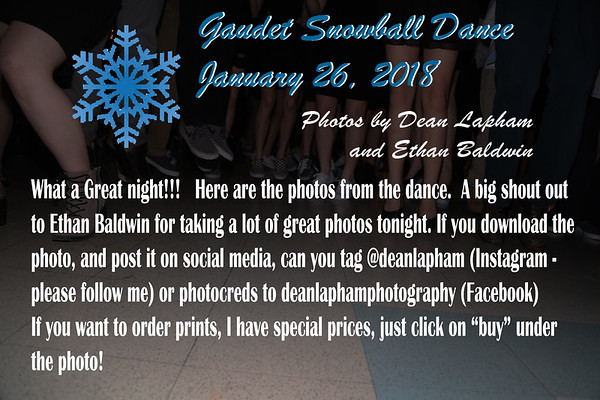 2018 01 26 Gaudet Middleschool Snowball Dance
