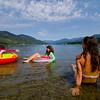 Splashing around at Christina Lake, Boundary Country