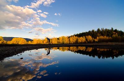 Mountain biking 2, KVR Trail, Princeton, Similkameen, fall, activities, Darren Robinson