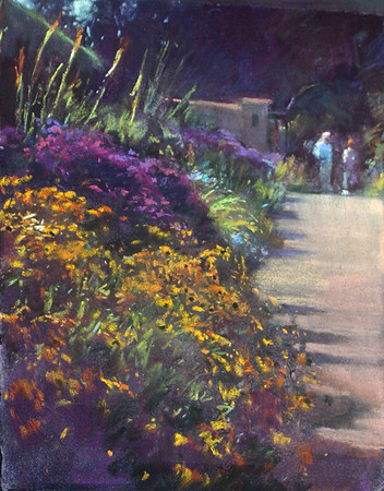 Asters, Early Morning Plein Air