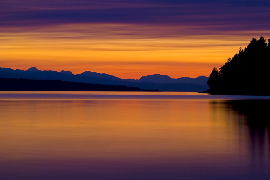 Mystical sunset near Myrtle Rocks, Powell River, BC