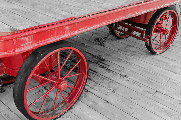 red wagon wheels