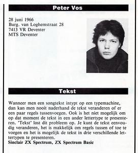 Artikel in de finale catalogus Micro Masters Holland 1986