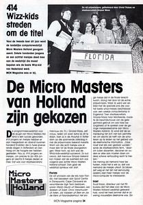 Artikel over finale Micro Masters Holland 1986