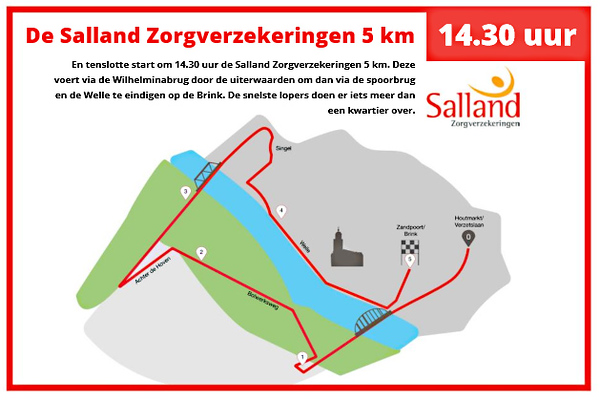route 5km ijsselloop 2019