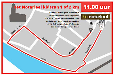 route kidsrun ijsselloop 2019