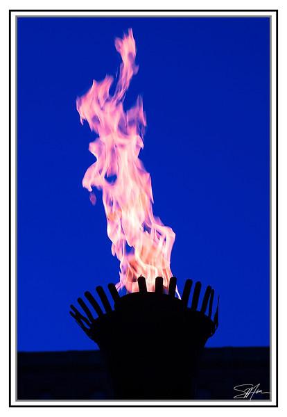 Flame at Alberta Legislature